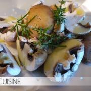 Pilze und Zwiebeln
