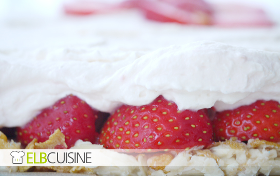 Erdbeer-Crunchy-Torte