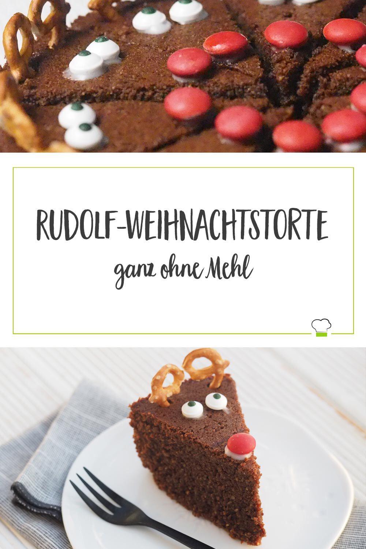Weihnachtstorte Schokolade Rudolf