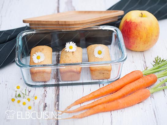Apfel-Karotten-Mini-Kuchen