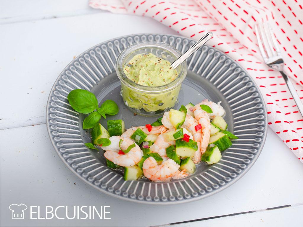 Ceviche Teller Garnelen Salat