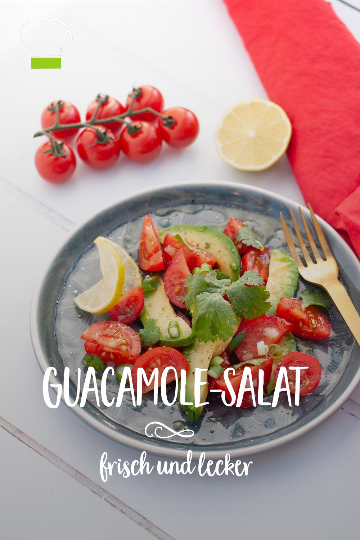 Guacamole salat Tomaten Zwiebeln Avocado