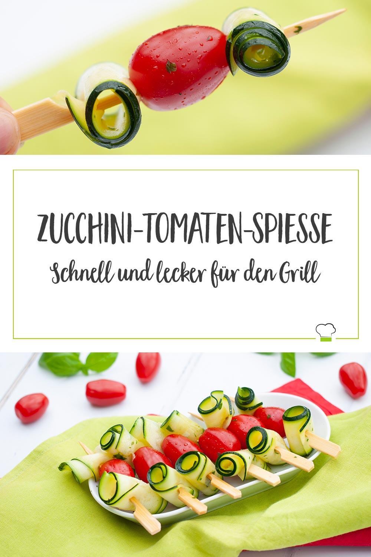 Zucchini-Tomaten-Spieße