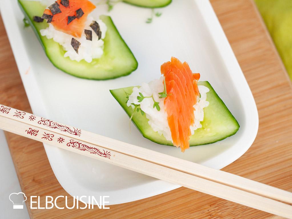 Gurken-Lachs-Sushi