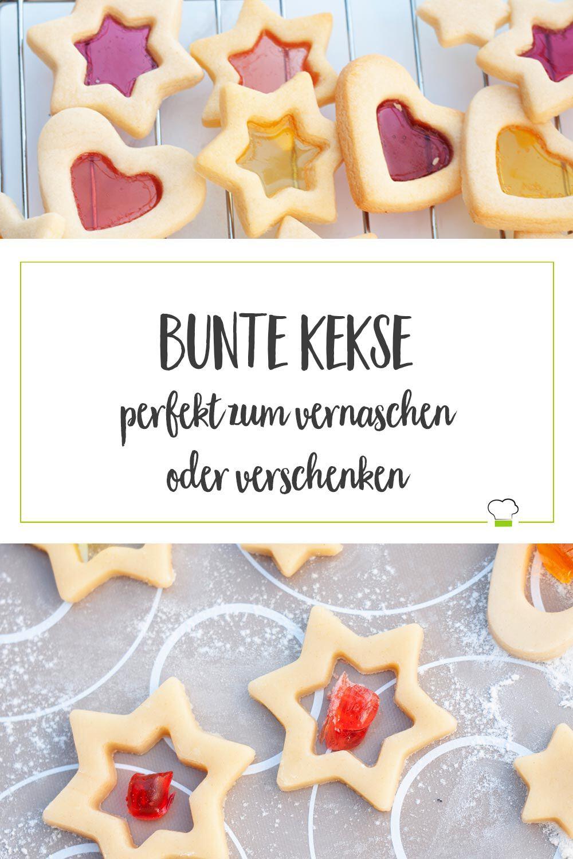 Bunte Kekse Bonbon Plätzchen