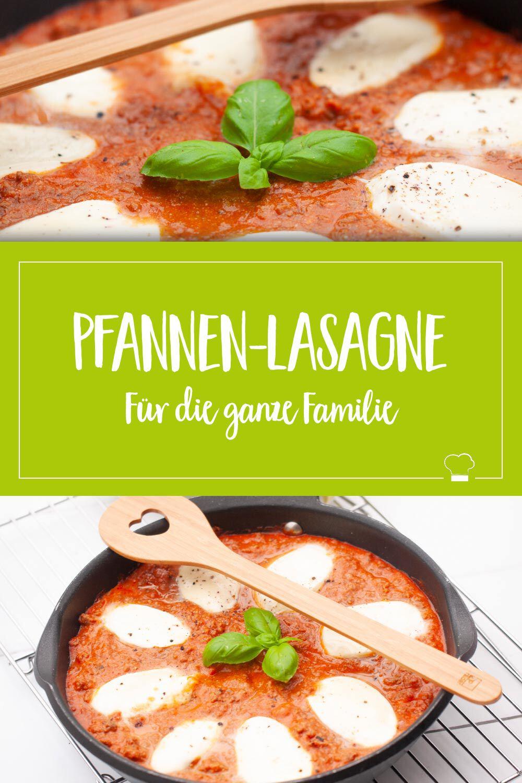 Pfannen-Lasagne Pinterest