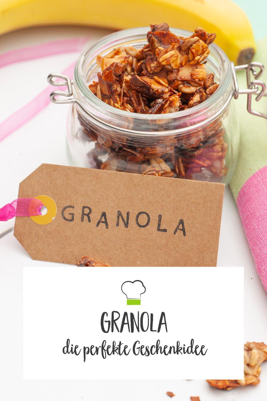 gesundes Granola Geschenkidee
